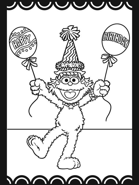 Sesame Street Coloring Book #625 | Pics to Color | Coloring ...