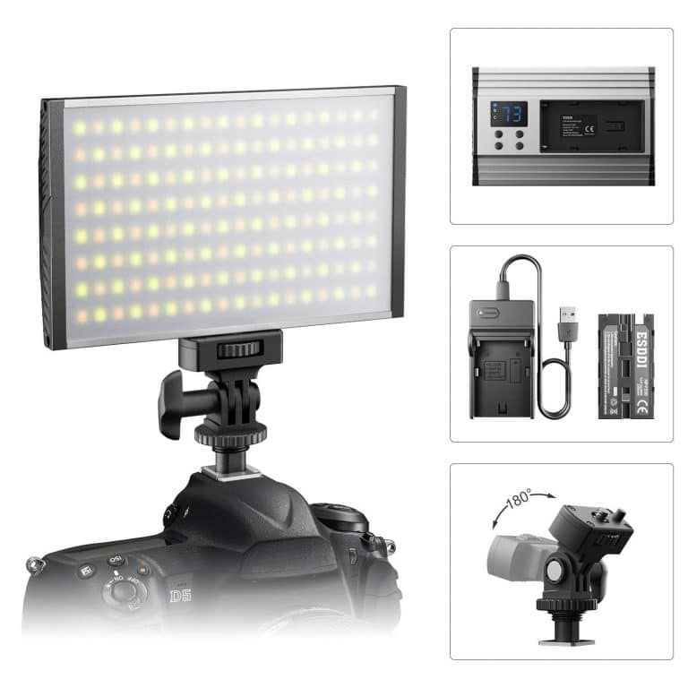 Esddi Led Camera Video Light Video Lighting Led Panel Light Led Lights