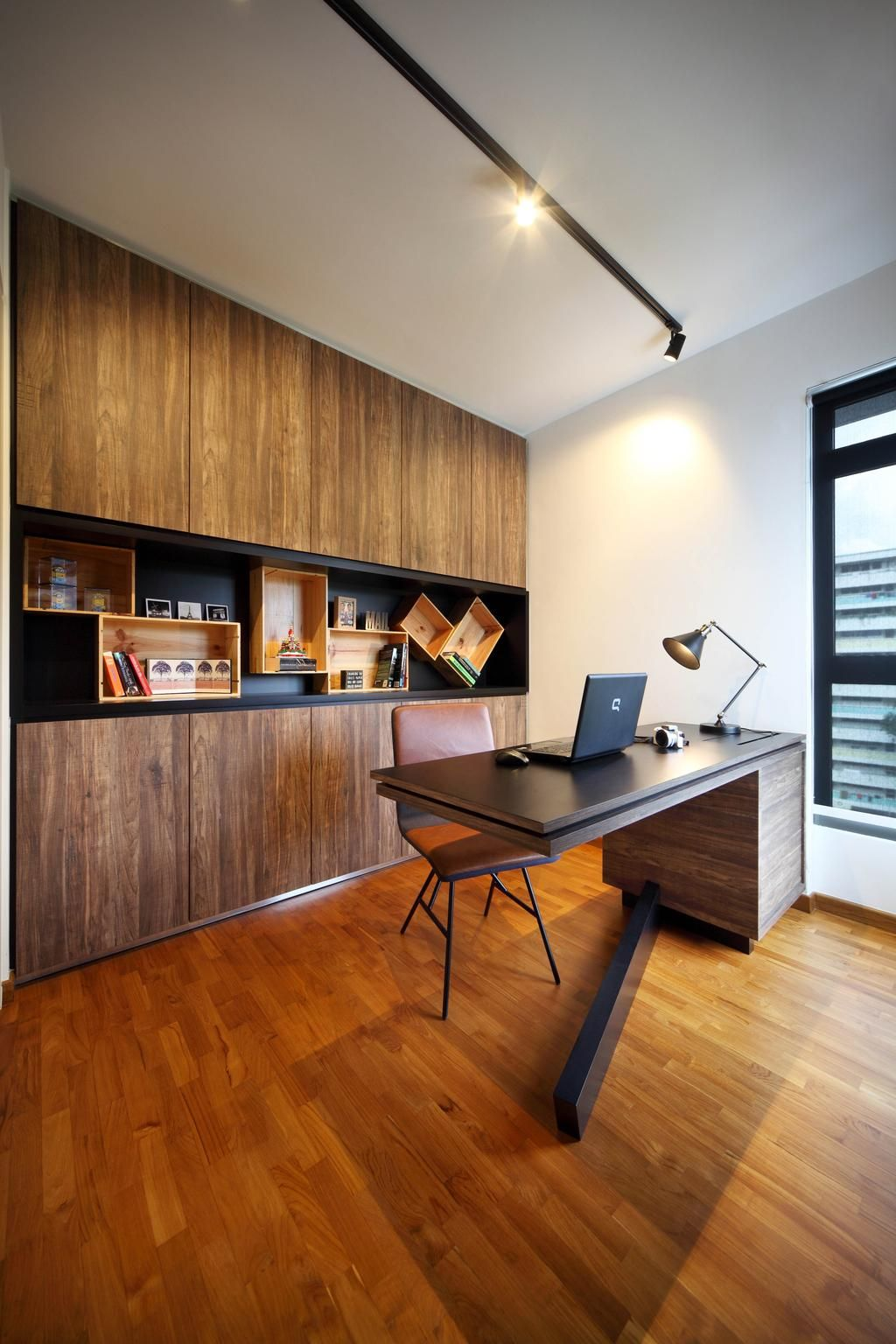 Hdb Study Room Design Ideas: Check Out This Eclectic-style HDB Study And Other Similar