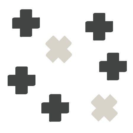 Muursticker Cross - antraciet