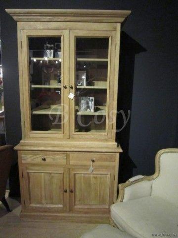 "PR Interiors Whistler vitrinekast 110 in weathered oak-eik<span style=""font-size: 0.01pt;""> PR-Rogiers-Home-Interiors-CHR/111/03 vitrine-vitrinekast-vaisselier-vaisseliers-uitstalkast-uitstalkasten-vitrines-vitrinekast-vitrinekasten </span>"
