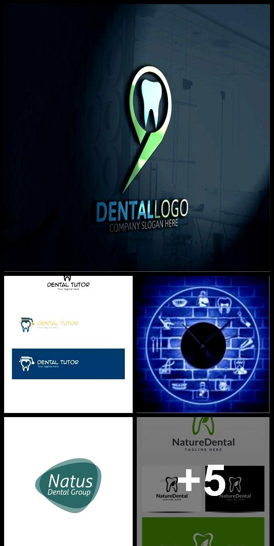 Dental Logos LED wall clock #dentallogo