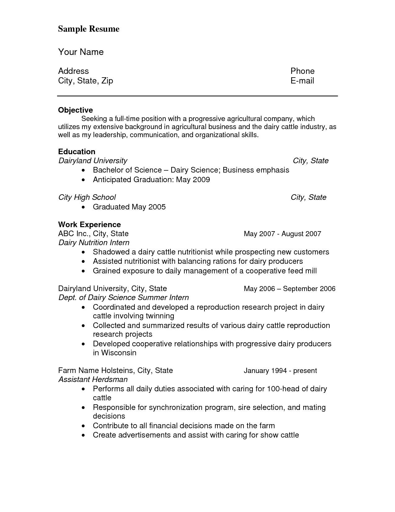 Cv Template References Resume References Resume Objective