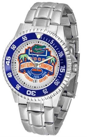 Mens Steel Bandwrist Watch by SunTime. $79.95. The Competitor Watch With Stainless Steel Band is one of the hottest design in watches today! The functional rotating bezel is color-coordinated to compliment your favorite team logo. The Competitor Steel utilizes an attractive and secure stainless steel band.This watch comes with a 3 year limited manufacturers warranty on the mechanism of the watch and the warranty states Do not submerge your watch in water your watch is water ...