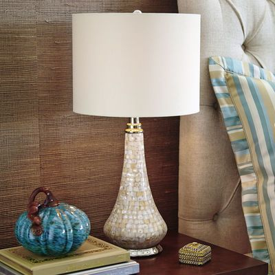 Mother Of Pearl Accent Lamp A Romantic Wall Street