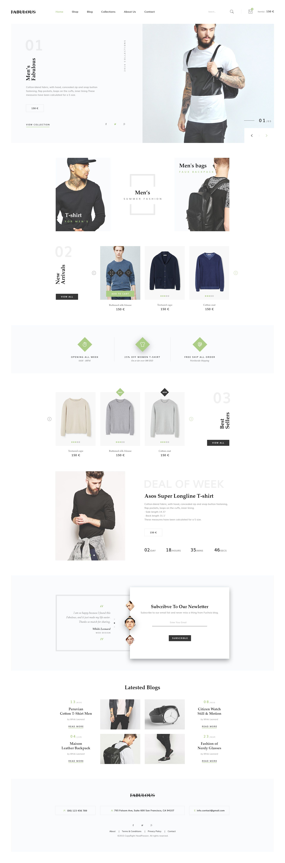 FABULOUS - eCommerce & Blog PSD Theme - PSD Templates