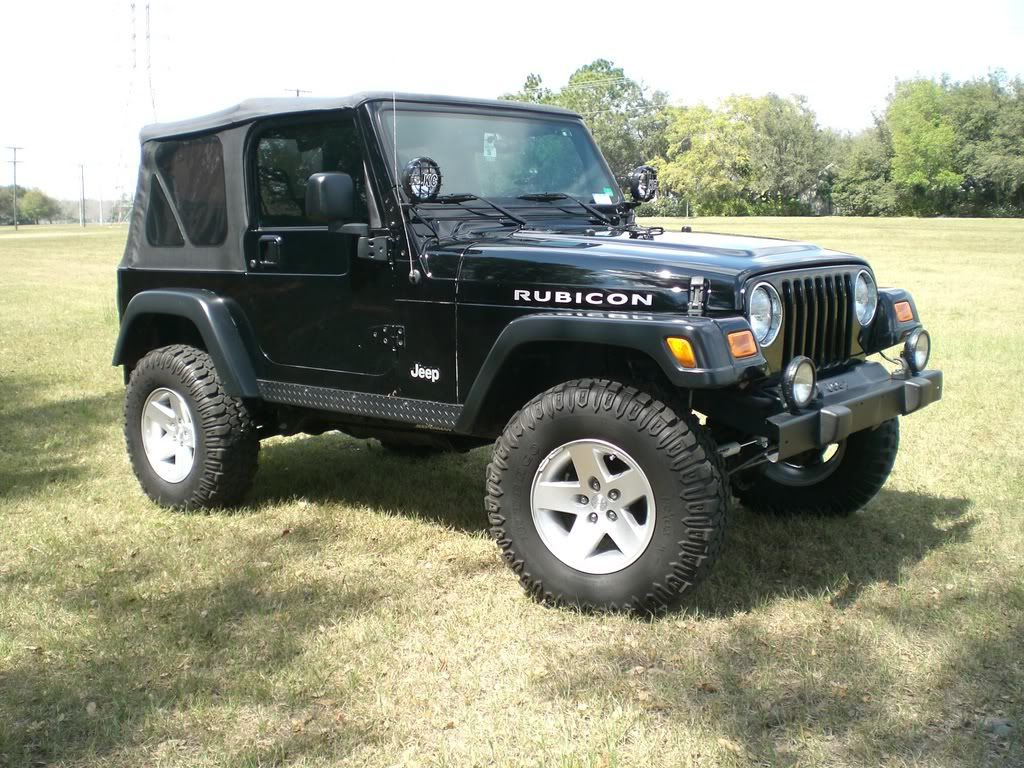 Big Tires On Moab Rubicon Rims With Out Wheel Spacers On Tj Jeepforum Com Moab Jeep Jeep Rims Moab
