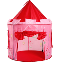 Une tente château de princesse
