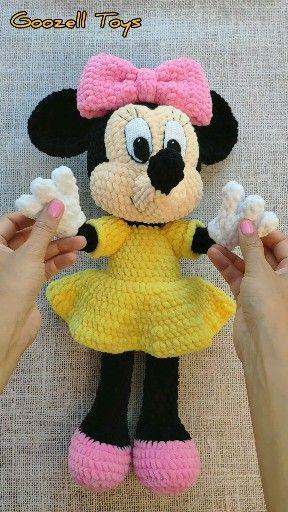 Minnie Mouse Crochet pattern - Disney crochet pattern - Amigurumi Knitting Toy PDF pattern - Amigurumi Disney