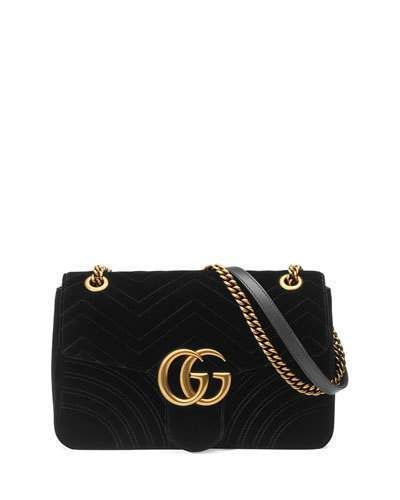 Gucci Gg Marmont 2 0 Medium Quilted Shoulder Bag Black Shoulder Bag Quilted Shoulder Bags Gucci Handbags