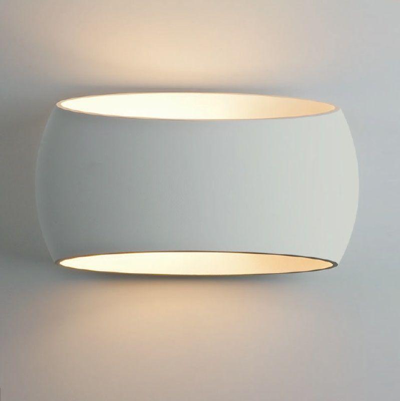 Flure Haus Deko Und Flur Design: Wandleuchte, Up & Down, Gips, Ovale Form, LED Lampe