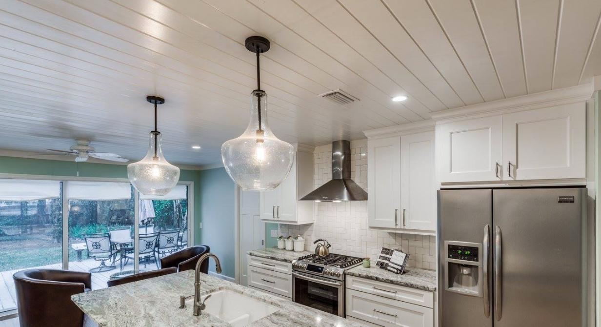 pinbeetree homes on modern coastal kitchen  coastal