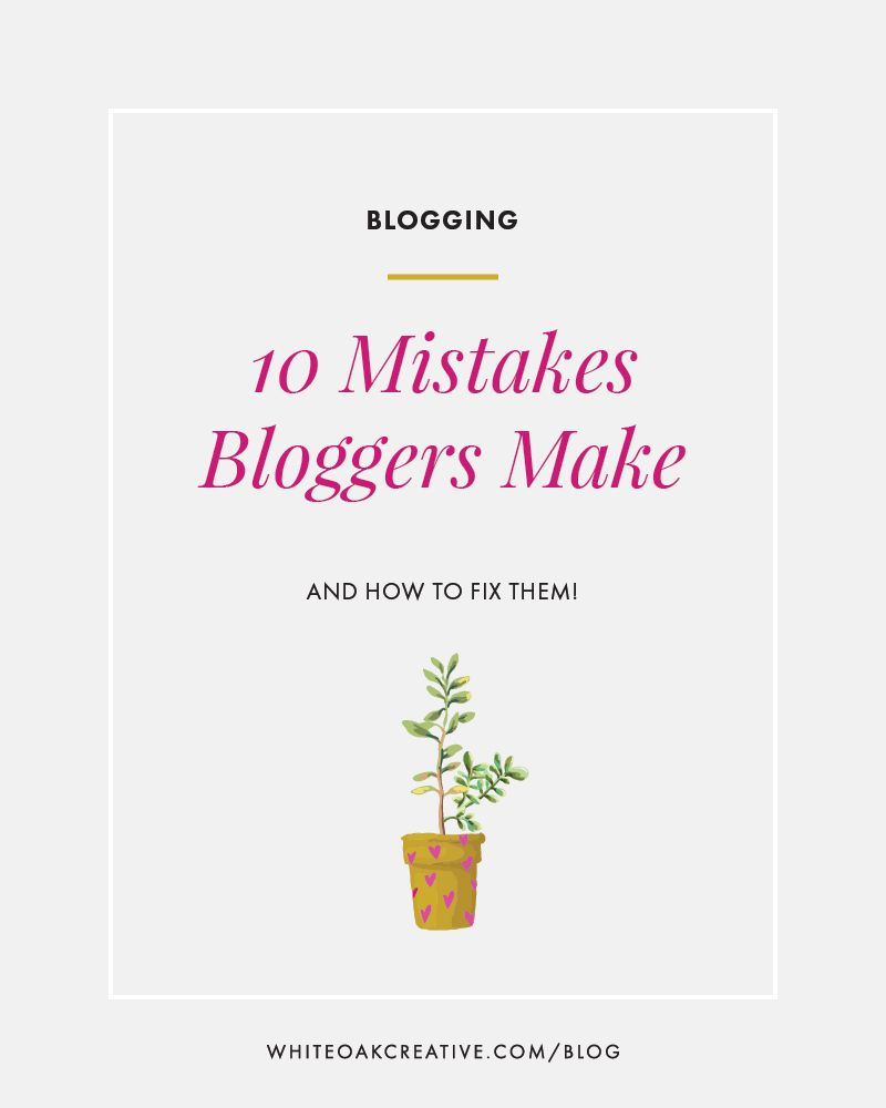 Common Blog Mistakes and how to fix them!