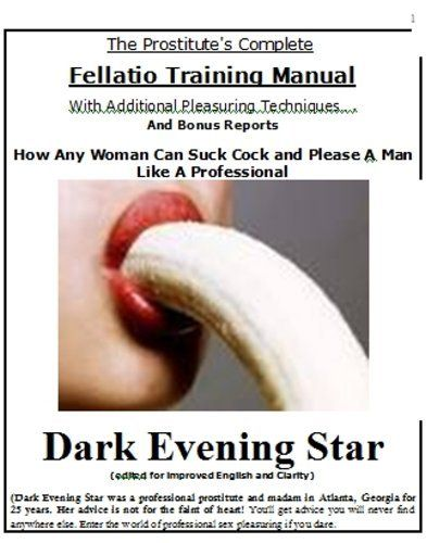 The Prostituteu0027s Complete Fellatio Training Manual by Dark Evening - training manual