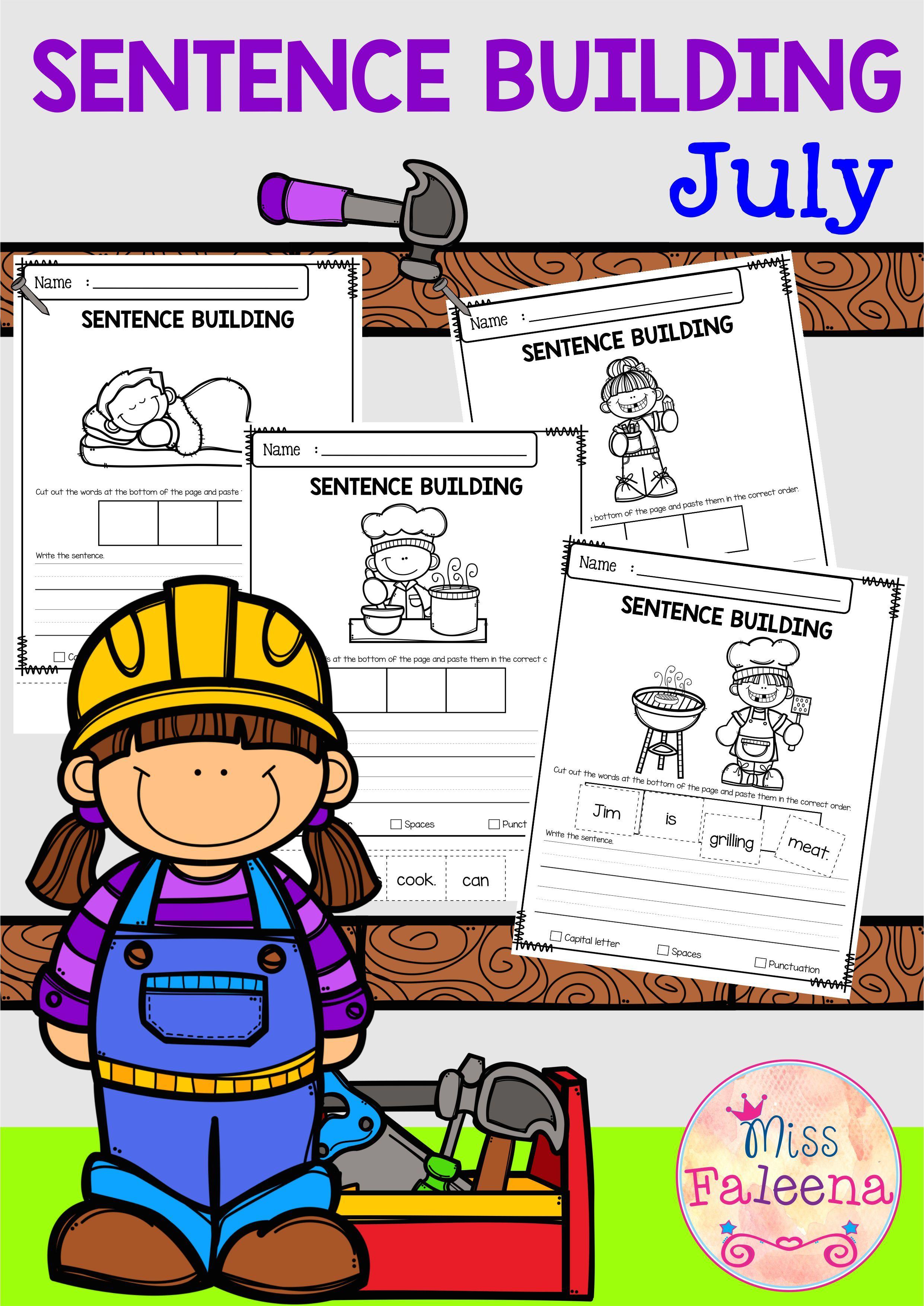 July Sentence Building