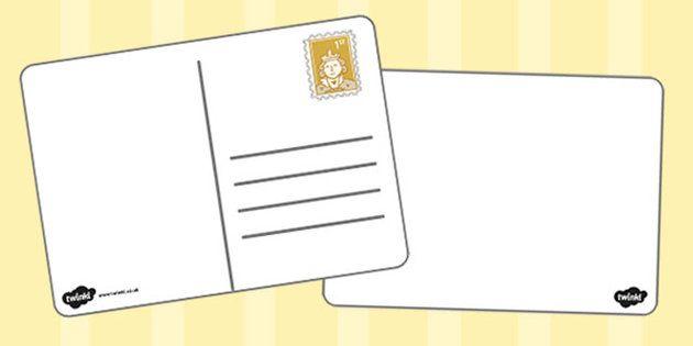 Blank Postcard Templates - Postcard template, Postcard, Postcard - postcard template free printable