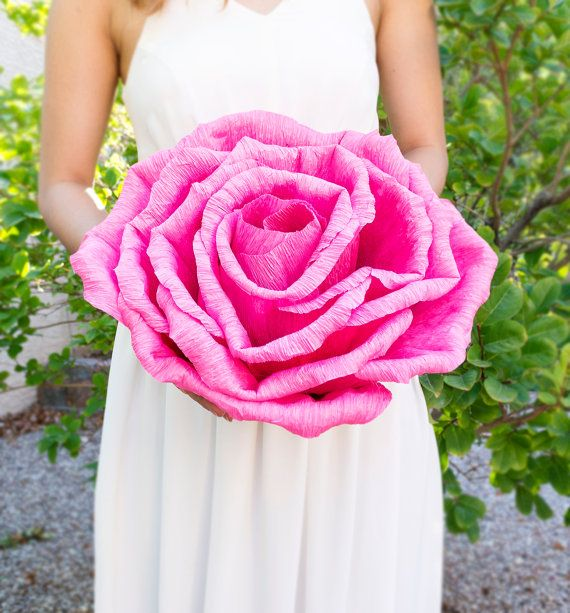 Handmade Giant Crepe Paper Flower Without Stem Wedding Decoration