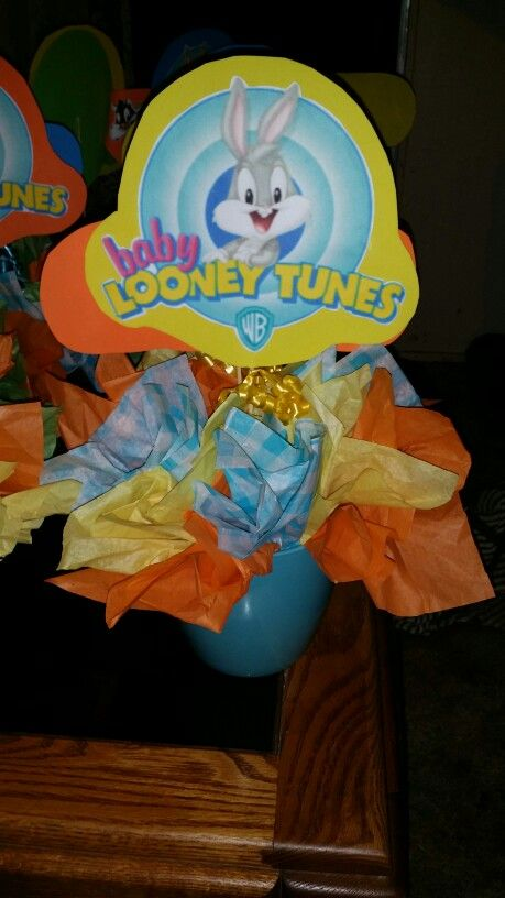 Baby Looney Tunes Theme Baby Shower : looney, tunes, theme, shower, Looney, Tunes, Centerpieces, Tunes,, Party,, Bunny, Shower