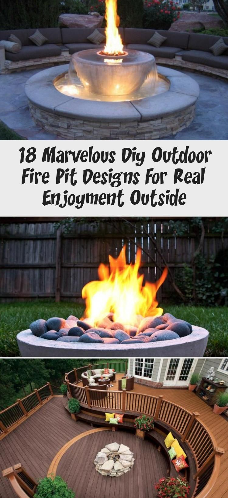 18 Marvelous Diy Outdoor Fire Pit Designs For Real Enjoyment