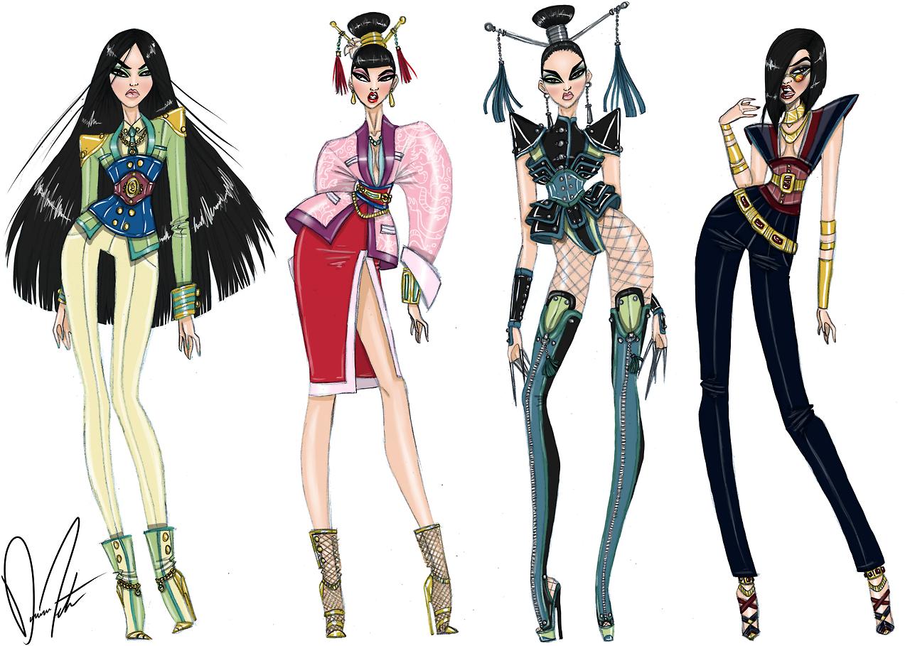 Mulan Collection By Daren J Disney Princess Fashion Disney Divas Disney Style