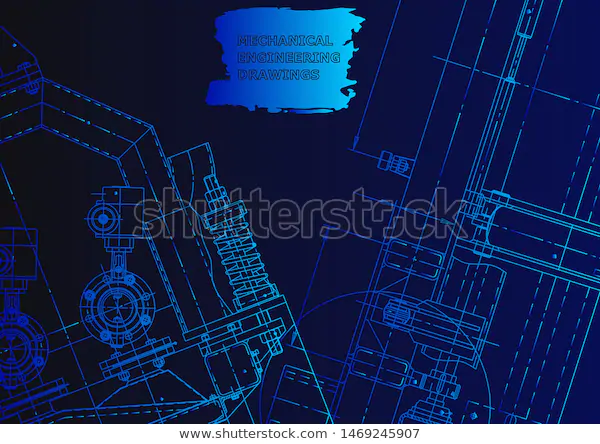 Cover Vector Engineering Drawing Mechanical Instrument
