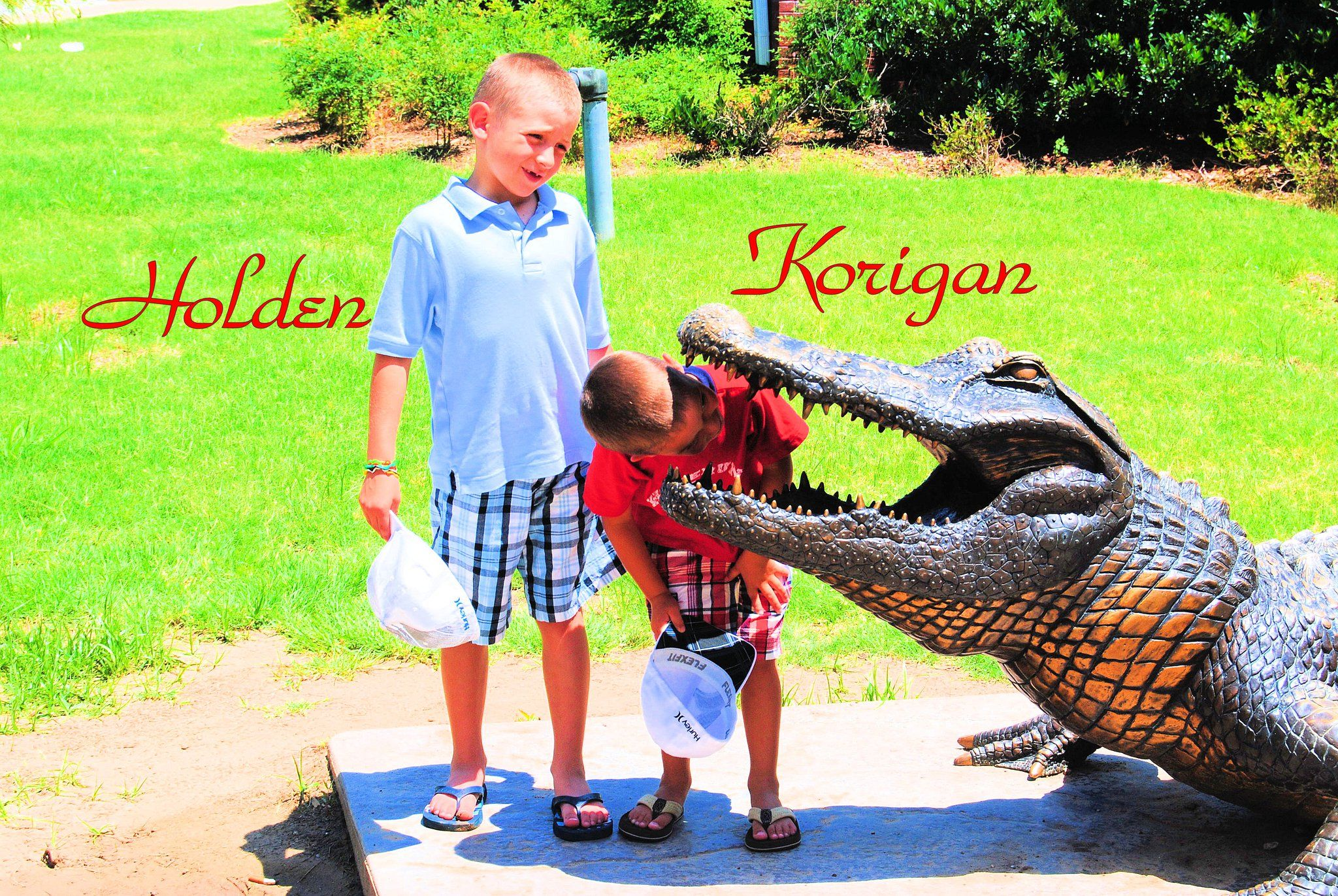 Holden and Korigan goofing