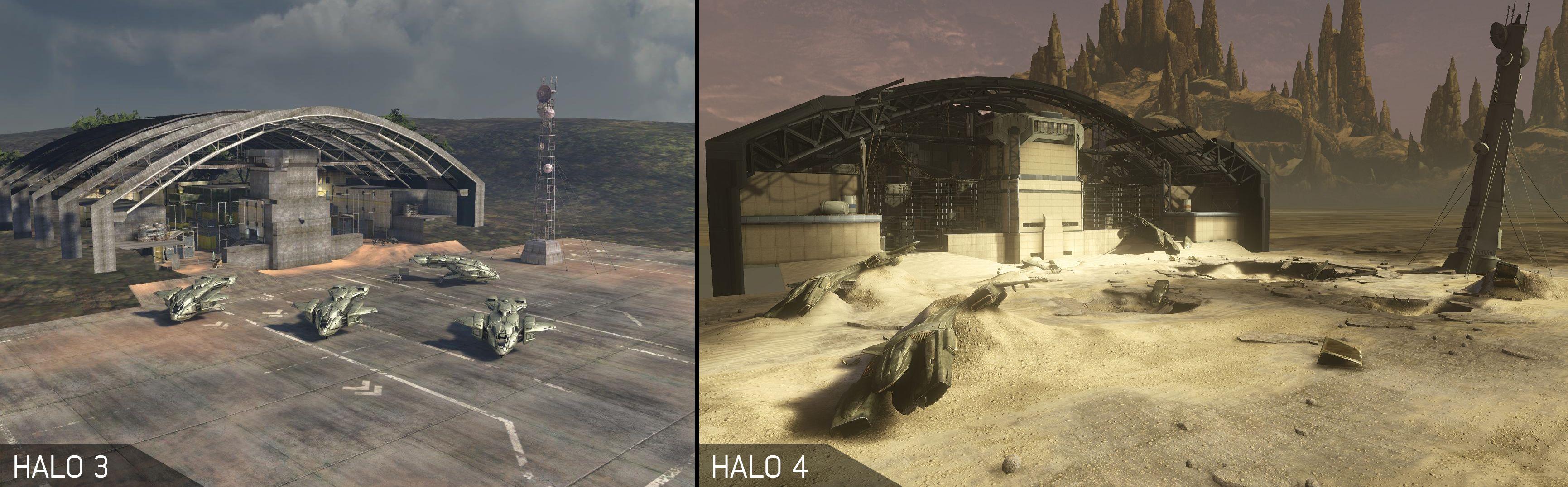Halo 3 Halo 4 Pit Comparison