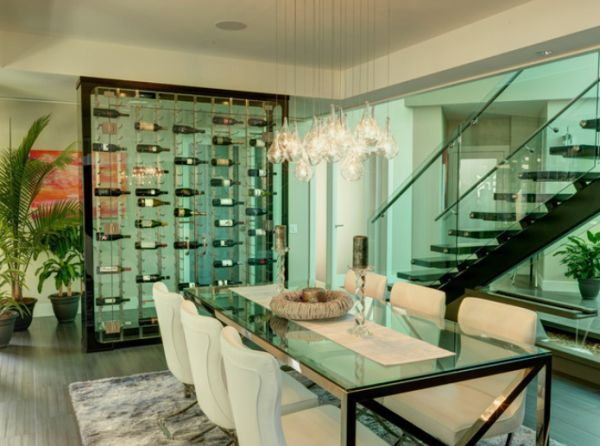Amazing Wine Storage For Modern Dining Rooms Pictures Gallery