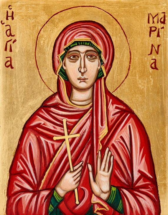 contemporary byzantine saint marina icon orthodox st margaret of