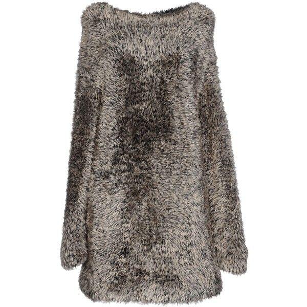 Alaïa Short Dress (€600) ❤ liked on Polyvore featuring dresses, sand, short brown dress, alaïa, mini dress, long-sleeve mini dress and short dresses