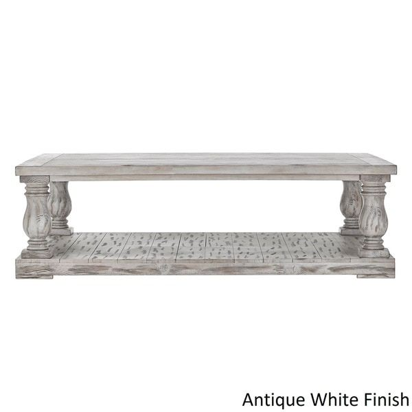 Edmaire Rustic Baluster 60 Inch Coffee Table By Inspire Q Artisan Coffee Table Coffee Table Stand Inspire Q