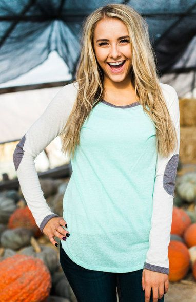 Womens tops in mint, high fashion at reasonable prices.