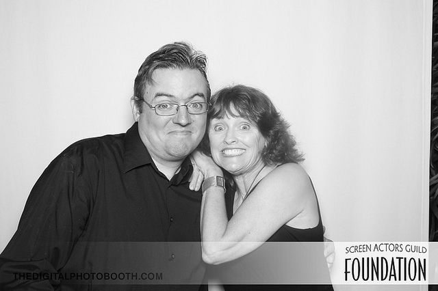Photo Booth fun with George Whittam - SAG Foundation Poker Tourney.