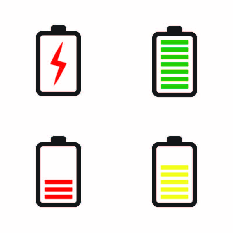 Phone Battery Icon Collection Design Vector Free Download Battery Batterysymbol Collection Design Download F Battery Icon Phone Battery Mobile Battery