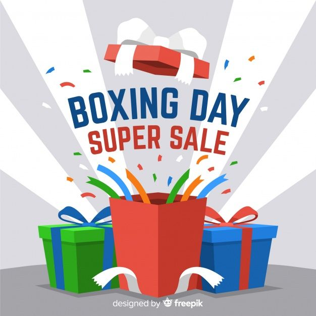 Download Flat Boxing Day Sale Background For Free In 2020