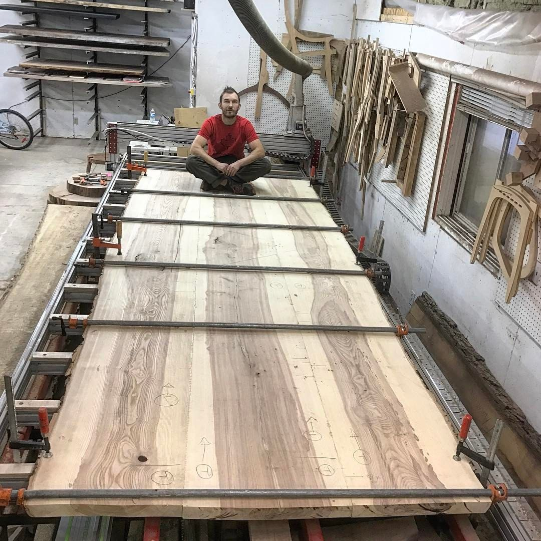 Terrific 14 X 60 Ash Boardroom Table Progress Shot Glued Up Next Download Free Architecture Designs Scobabritishbridgeorg