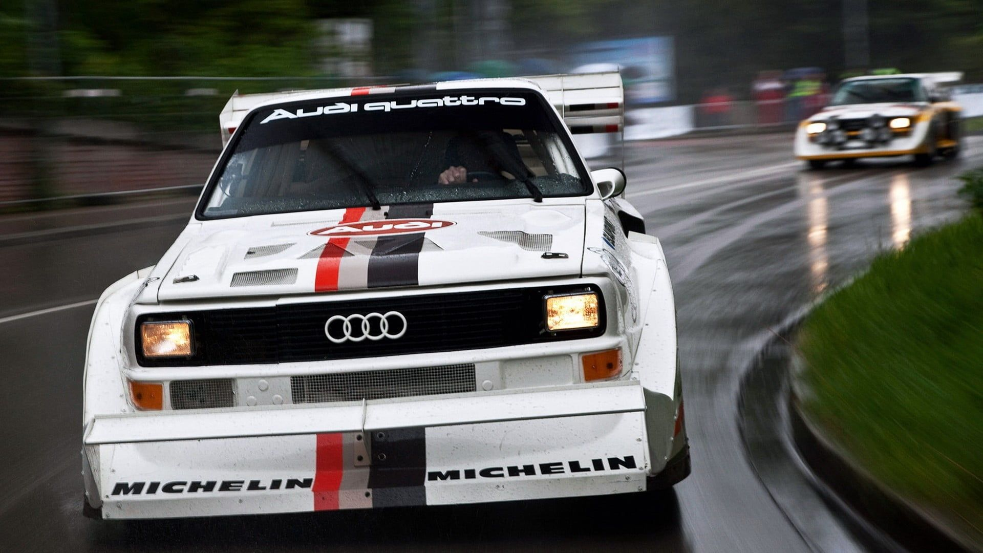 White Audi Vehicle Audi Audi Quattro Car Rally Cars Sports Car Old Car Audi Sport Quattro S1 1080p Wallpaper Hdwallpaper Des Audi Quattro Audi Sport Audi