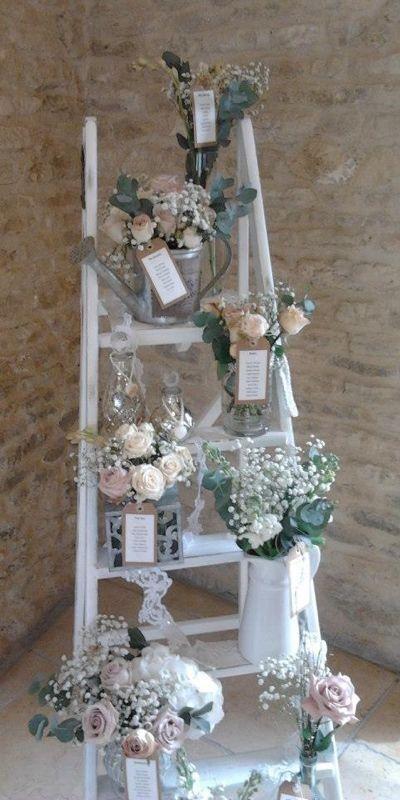 Decoraci n para bodas r stica y shabby chic escalera - Decoracion rustica chic ...