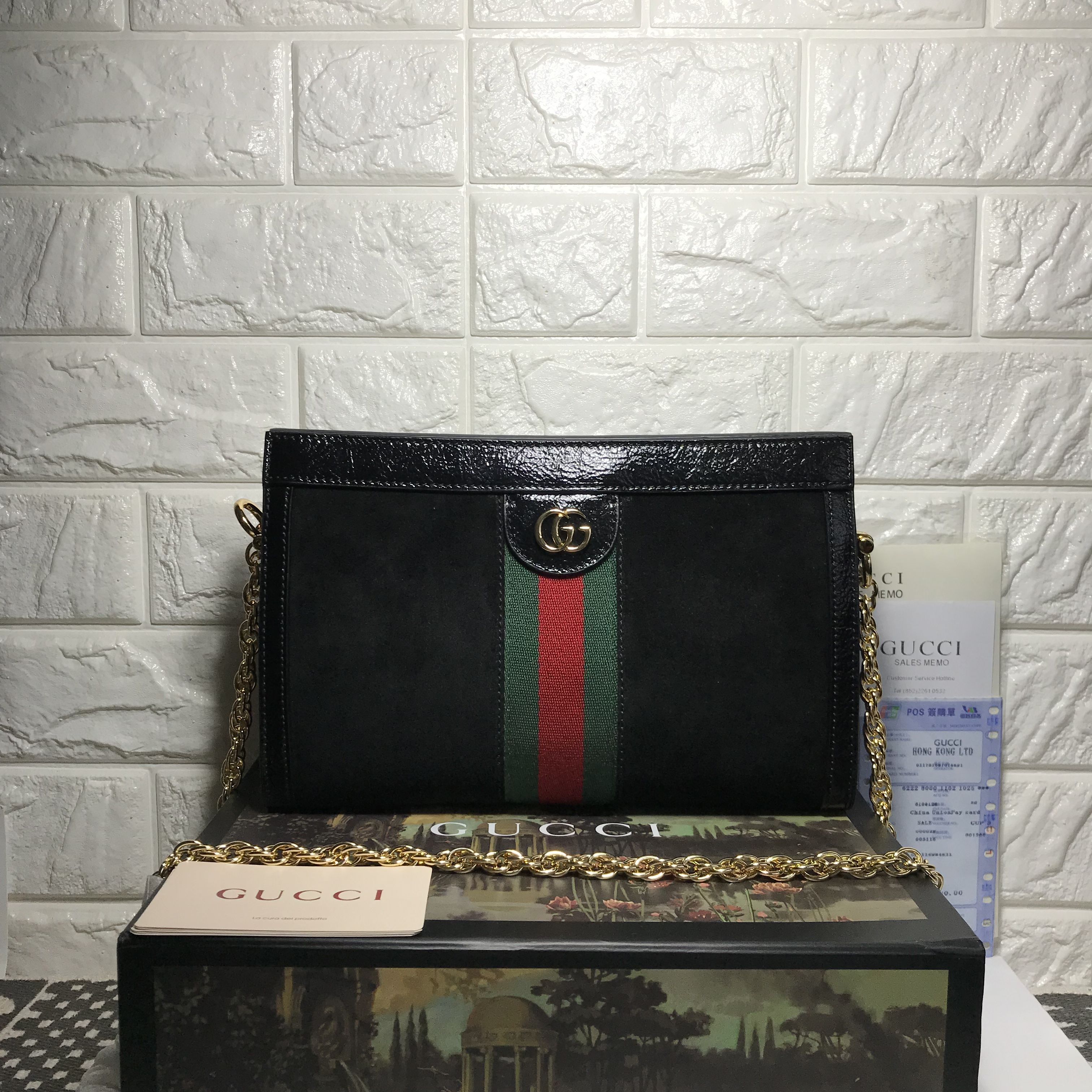10beecad2 Gucci ophidia clutch purse with chain original leather version ...