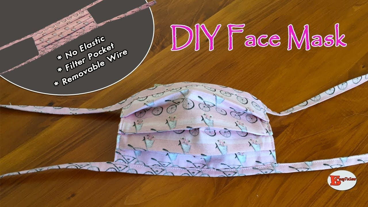Diy Face Mask With Filter Pocket And Removable Wire No Elastic