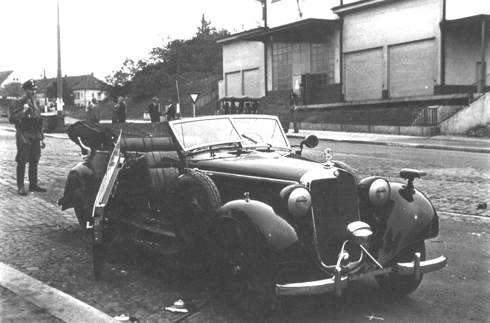 Mercedes of Reinhard Heydrich shortly after the ...