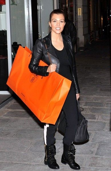 42b70a2147 Kourtney Kardashian With a Large Bag