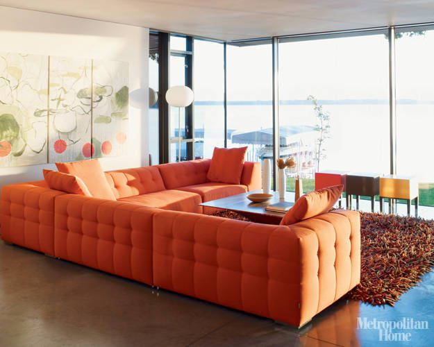 On The Waterfront In Iowa Sofa Colors Coral Room Design Furniture #orange #accessories #for #living #room