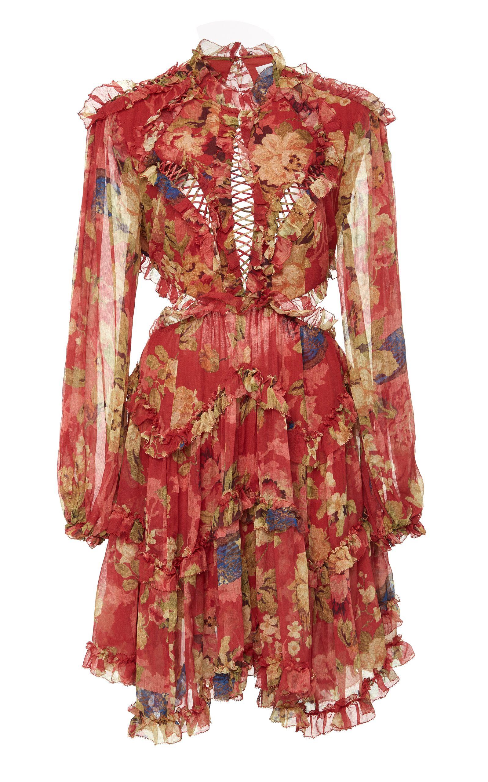 47b2ba8cee1c ZIMMERMANN MELODY LACE UP MINI DRESS. #zimmermann #cloth ...