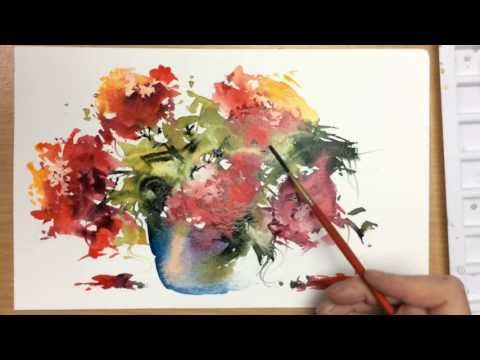 Beginners Loose Watercolours 39 Red Moment 39 With Andrew