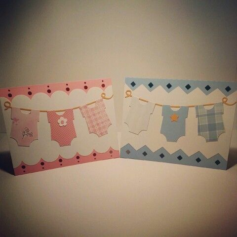 Baby Onsie Laundry Card Silhouette Cameo