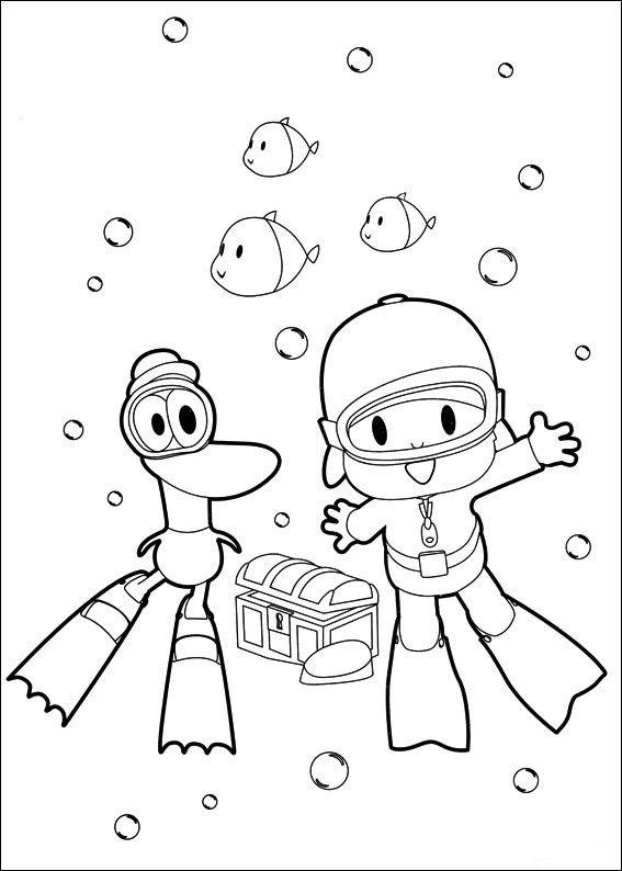 pocoyo ausmalbilder malvorlagen zeichnung druckbare nº 20