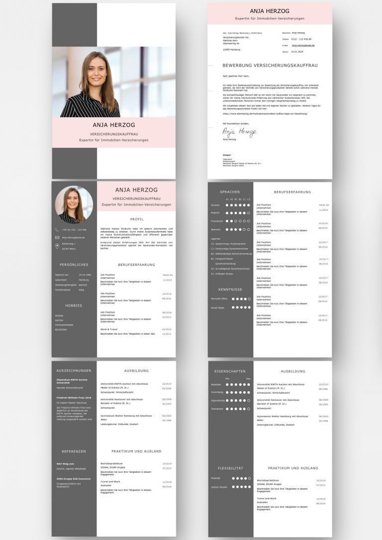 Bewerbungsvorlage Premium Xl Rose Fur Viel Berufserfahrung Download Inspiracion Cv Berufserfa Resume Design Creative Cv Resume Template Resume Design