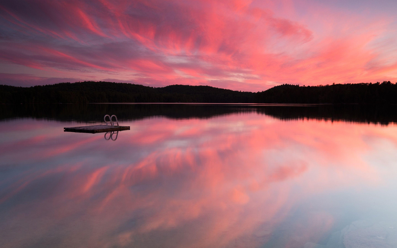 Saint Mary Lake In Glacier National Park Montana 2880x1800 Sunset Wallpaper Landscape Wallpaper Landscape