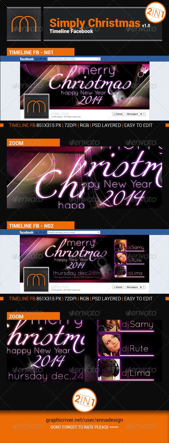 Simply Christmas Timeline FB Happy new year 2014